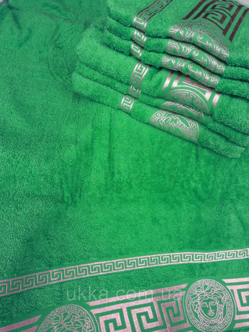 Махровое полотенце для лица 50х90 100% хлопок Узбекистан Версаче