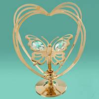 """Фигурка Сваровски """"Бабочка в сердце""""-символ тепла,радости и любви."""