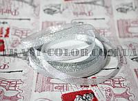 Лента парча 1см серебро (23 метра)