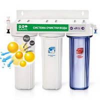 Водоочиститель под мойку 3-стадийный с ионообменной смолой Raifil TRIO-R (PU905S3-WF14-EZ)