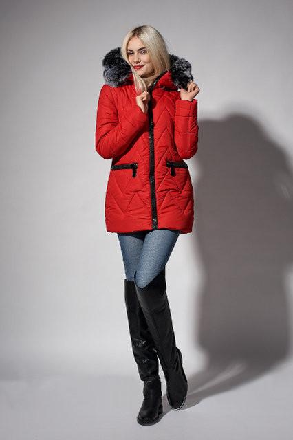 6a156085f Стильная молодежная зимняя куртка красного цвета, цена 999 грн ...