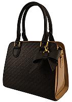 Маленькая женская сумочка черная с золотым 91046 (Украина)