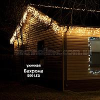 Гирлянда Бахрома 3 х 0.6 м. уличная / Premium Light IP54 200LED средний провод