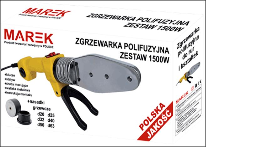 Паяльник для пластикових труб MAREK 1500 W (Польща)
