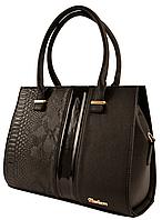 Сумка женская черная комбинированная 91050 (Украина)