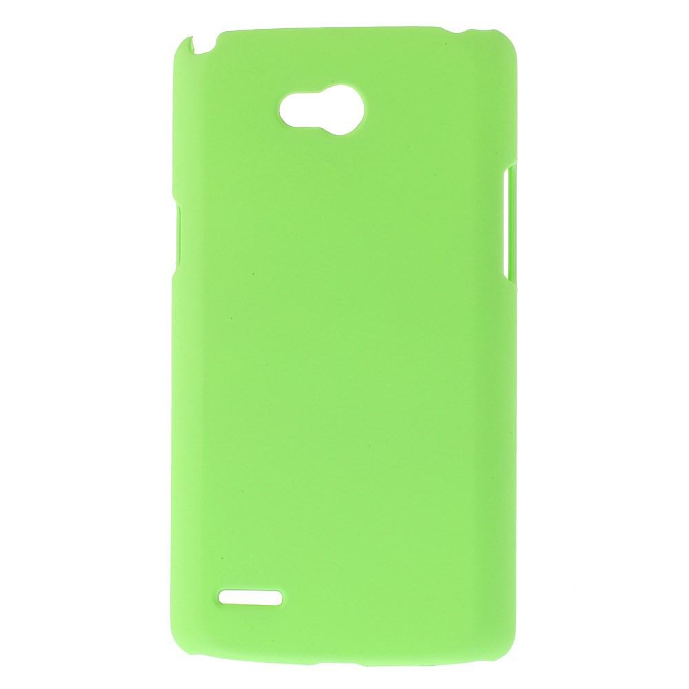 Чехол накладка пластик Rubberized для LG L80 Dual D380 зеленый