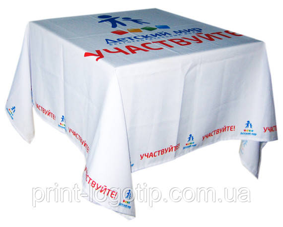 Скатерти с логотипом, печать на ткани в Киеве