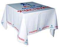Скатерти с логотипом, печать на ткани в Киеве, фото 1