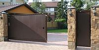 К-т сдвижных ворот «Собери Сам №3» коричневый RAL8014 (4500 х 2100)