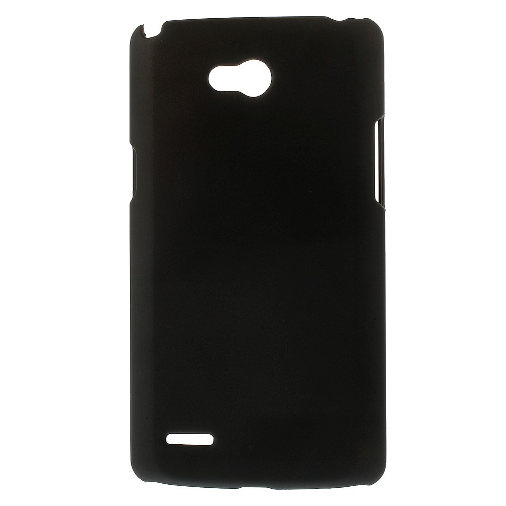 Чехол накладка пластик Rubberized для LG L80 Dual D380 черный