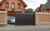 К-т сдвижных ворот «Собери Сам №1» коричневый RAL8014 (3500 х 2100)