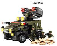 Конструктор для мальчика  AUSINI 22704  Военная техника 822 деталей в коробке 47*35*7  см.