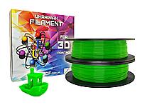 Зеленый флюр PLA пластик для 3D печати (1,75 мм/0,5 кг)