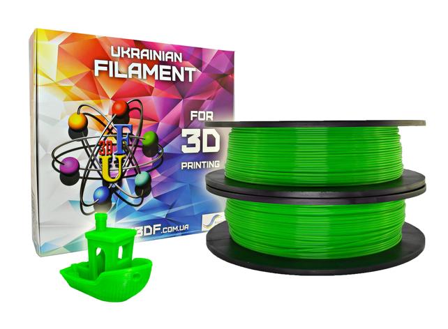 Зеленый флюр PLA пластик для 3D печати (1,75 мм/0,5 кг), фото 2