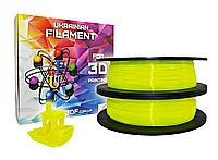 Желтый флюр PLA пластик для 3D печати (1,75 мм/0,5 кг)