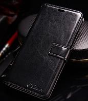 Кожаный чехол-книжка для Meizu M5 Note черный