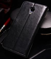 Кожаный чехол-книжка для Meizu M5 Note черный, фото 2