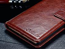 Кожаный чехол-книжка для Meizu M5 Note черный, фото 3