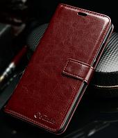 Кожаный чехол-книжка для Meizu M5 Note коричневый