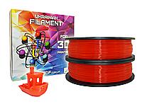 Красный флюр PLA пластик для 3D печати (1,75 мм/0,5 кг)