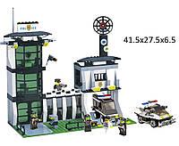 """Конструктор """"Brick"""" 129 (457831) (20шт) """"Полицейский участок"""", 589 дет, в разобр. кор 41*28*6см"""