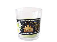 Арома-свеча в стакане Зеленый чай (Ароматические свечи)