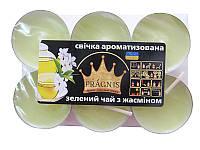 Арома-свеча чайная 6шт Зеленый чай (Ароматические свечи)