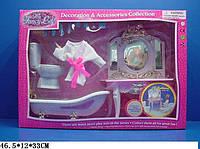 Мебель для кукол Gloria Ванная комната, с халатом