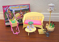 Мебель для кукол Gloria Уголок в саду