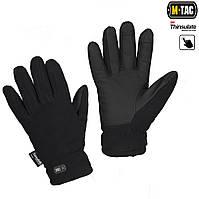 Перчатки зимние Fleece Thinsulate чёрные, фото 1