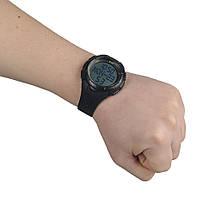 Часы тактические с шагомером чёрного цвета, фото 2