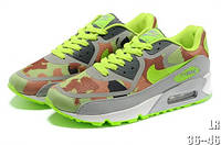 Мужские кроссовки Nike air max 90 Huperfuse Хаки зеленые с желтым