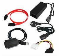 Переходник USB to SATA+IDE CAB-200 с блоком питания