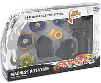Бейблейд набор: 3 диска с 2-мя зубчатыми пусковыми механизмами и ручкой