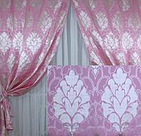 Красивый комплект штор с тюлем