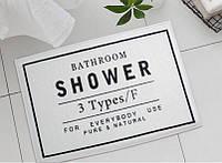 Коврик в ванную Bathroom shower. White, фото 1