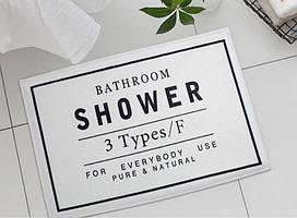 Коврик в ванную Bathroom shower. White
