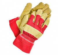Перчатки утепленные SHAG, хлопок/спилок, скрагой