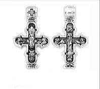 Мощевик-крест серебряный Преображение Господне. Икона Божией Матери «Валаамская» 104.258
