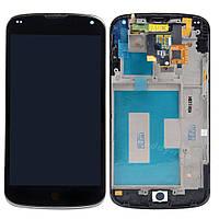 Дисплей (экран) для LG E960 Nexus 4 + с сенсором (тачскрином) и рамкой черный