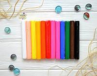 """Полимерная глина """"Пластишка"""", набор, 12 цветов"""