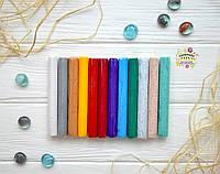 """Полимерная глина Lema Glitters """"Пластишка"""", набор, 12 цветов, фото 1"""