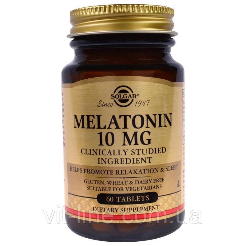Solgar Мелатонін 10 мг 60 таблеток