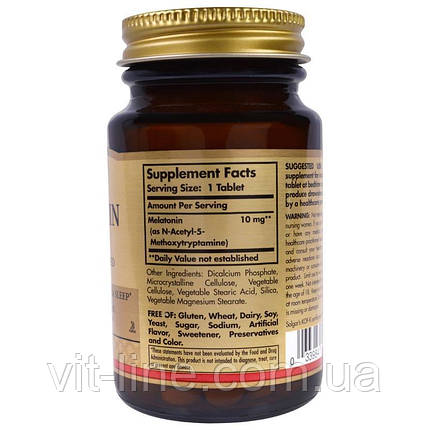 Solgar Мелатонін 10 мг 60 таблеток, фото 2