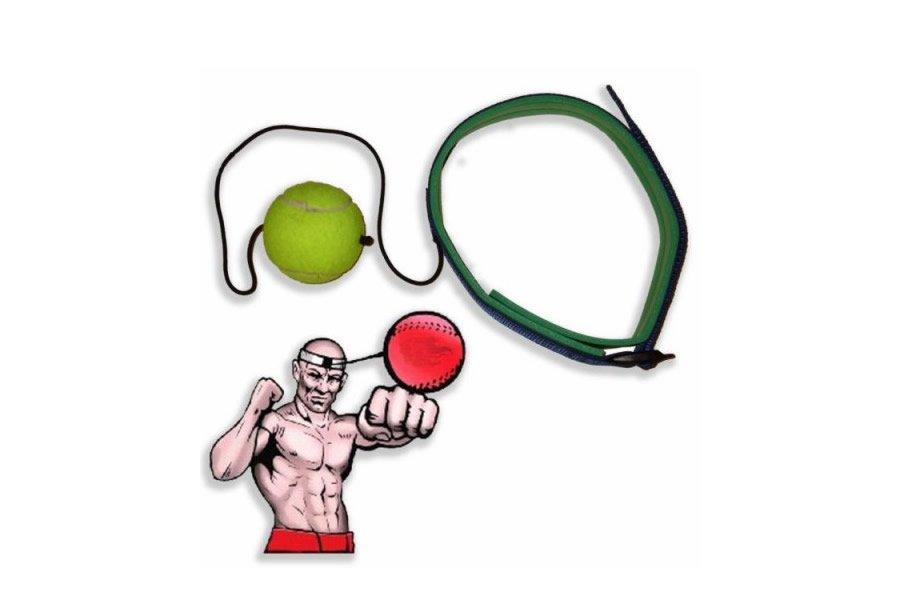 Тренажер fight ball (файт бол), теннисный мячик для бокса на резинке (SP-0502)