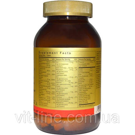 Solgar, Formula V, VM-75, мультивитамины с хелатными минералами, 180 таблеток, фото 2