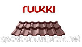 Металлочерепица Ruukki/Руукки, Finnera/Финнера (финская) RR32, Purex/Пурекс, Quality class 40