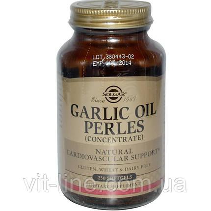 Solgar, Чесночное масло Perles, (концентрат), 250 мягких капсул, фото 2