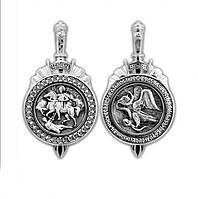 Образок серебряный Великомученик Дмитрий Солунский 259-R