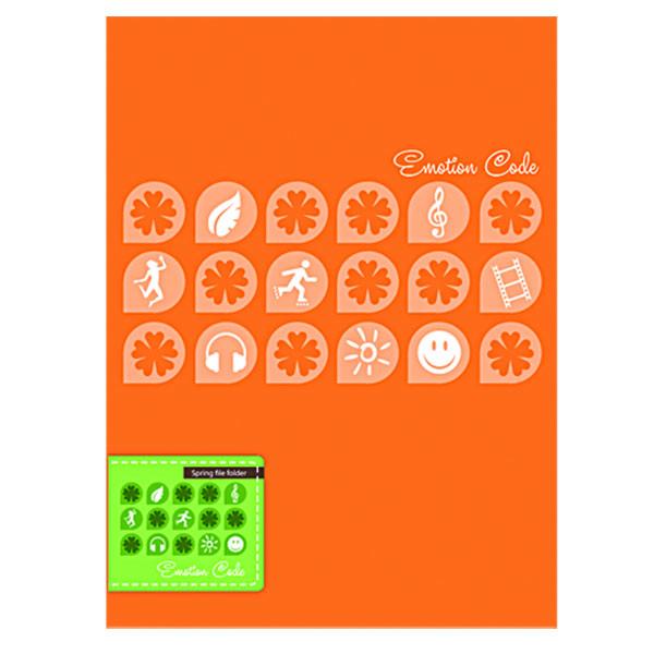 """Папка с прижимом пластиковая А4  """"Emotion  Code"""" DB-11EC, представлена в пяти цветах"""